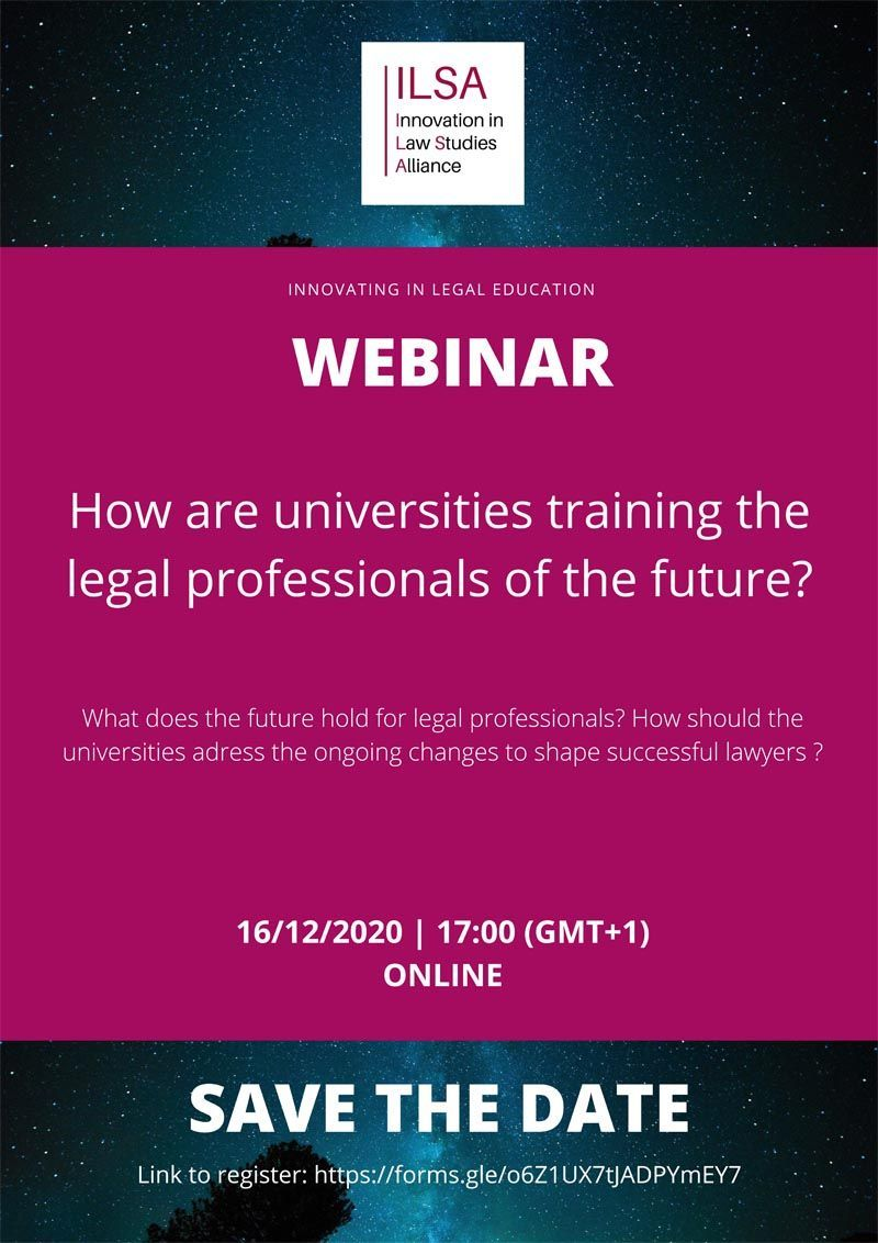 How are universities training the legal professionals to the future?