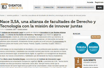 Eventos Jurídicos publishes the launch of ILSA