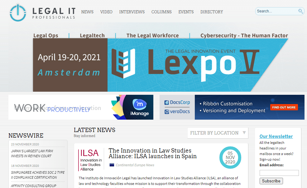 Legal IT Professionals publishes the launch of ILSA
